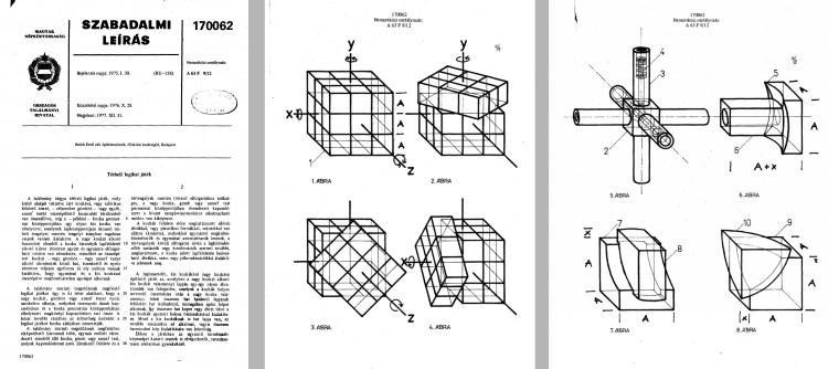 hungarian rubiks cube patent from 1975