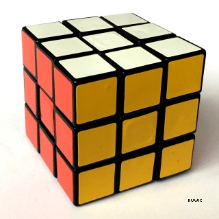 unusual rubiks cube color scheme