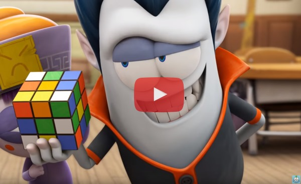 Cartoon with cubing monsters