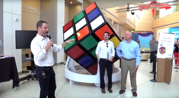 wes nelson largest Rubiks Cube
